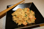 Fried rice is the perfect way to make a few shrimp go a long way!